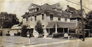 Black and White Photo of the Bauer Family Funeral Home, Kittanning Location