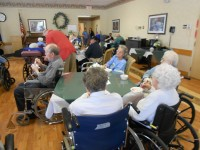 Bauer-Hillis Funeral Home gives treats to Clarview Nursing and Rehabilitation