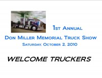 The First Annual Don Miller Big Rig Memorial Truck Show Was Part of the Elderton Fire Department�s Apple Butter Festival