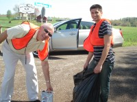 Bauer-Bly employees participate in Adopt-A-Highway in Dayton