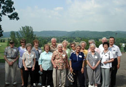 The Steps Ahead group overlooking the Lenape Heights Golf Course.